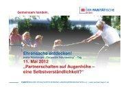 Corporate Volunteering Tag 11.05.2012 Vortrag Monika Nitsche