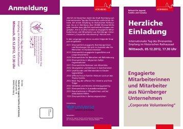 Ehrenamtstag 05.12.2012 - Unternehmen Ehrensache - Stadt ...