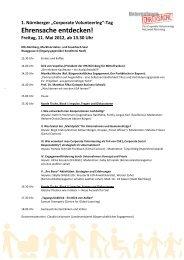 Corporate Volunteering Tag 11.05.2012 Programm - Unternehmen ...