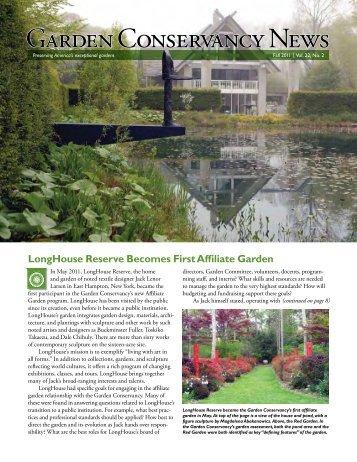 Garden Conservancy News - Fall 2011 - Untermyer Gardens ...