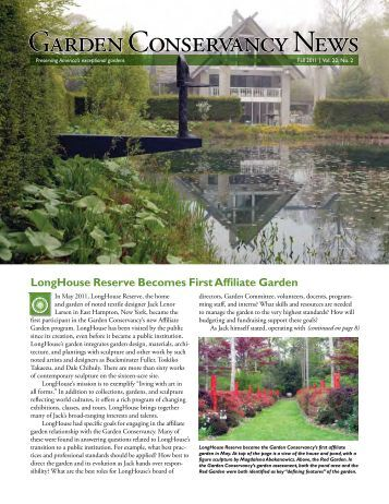Garden Conservancy News - Fall 2011 - Untermyer Gardens ...