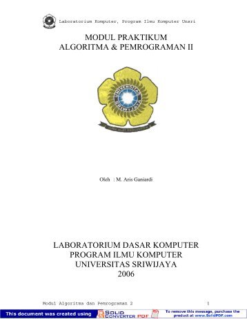 modul praktikum algoritma & pemrograman ii laboratorium dasar