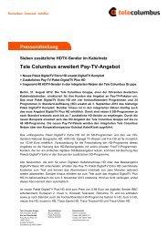Tele Columbus erweitert Pay-TV-Angebot - LifePR