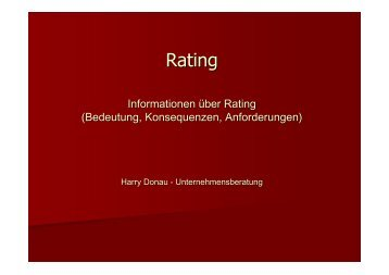 Informationen über Rating - Herzlich Willkommen bei Harry Donau ...