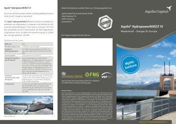 Aquila® HydropowerINVEST IV WpHG- konform - Renditewerk