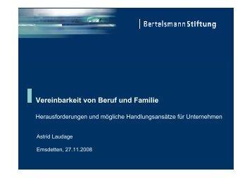 Vereinbarkeit von Beruf und Familie - Unternehmensforum-Emsdetten