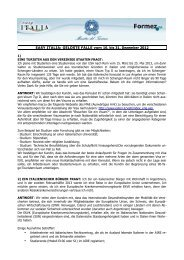 EASY ITALIA: GELÖSTE FÄLLE vom 16. bis 31. Dezember 2012