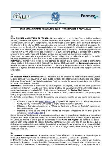 easy italia: casos resueltos 2010 – transporte y movilidad