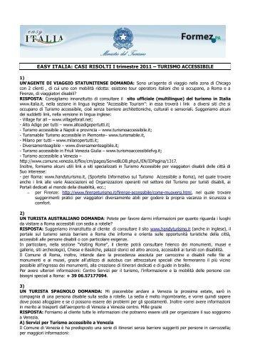TURISMO ACCESSIBILE - Easy Italia