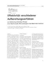 Alkalische Reinigung ... gefolgt von Sterilisation im ... - OxyCare GmbH
