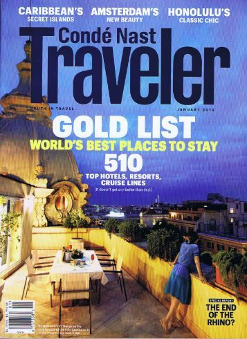 Conde Nast Traveller - The Kimberly Hotel