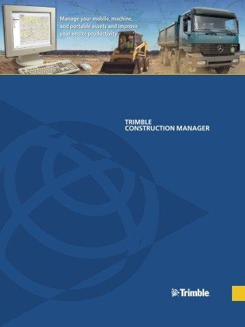 TRIMBLE CONSTRUCTION MANAGER