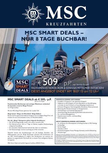 MSC SMART DEALS – NUR 8 TAGE BUCHBAR! - MSC Kreuzfahrten