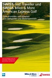 Golf Card - Die SWISS Miles & More Kreditkarten