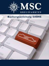Buchungsanleitung SABRE - MSC Kreuzfahrten