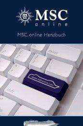 MSC Online Helpguide - MSC Kreuzfahrten