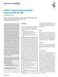 Leitlinie: Intermittierende pneumatische Kompression - eurocom