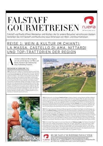 FALSTAFF GOURMETREISEN - Ruefa