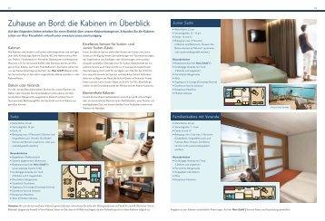 Zuhause an Bord: die Kabinen im Überblick - Ruefa
