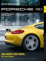DAS GESETZ DER KURVE. - Porsche Zentrum Lennetal