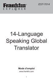 14-Language Speaking Global Translator - Franklin Electronic ...