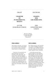 Draft Charter of Fundamental Rights of the European Union