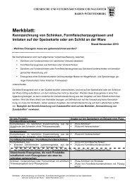 Merkblatt Kennzeichnung von Schinken