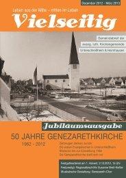 50 jahre genezarethkirche - Evangelische Kirchengemeinde ...