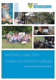 Aufstellung der soziAlen einrichtungen - Stadt Unterschleissheim