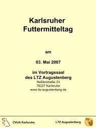 LTZ Augustenberg CVUA Karlsruhe Karlsruher Futtermitteltag