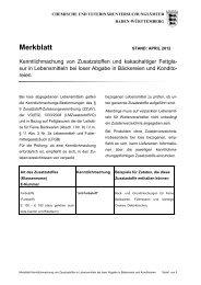 Merkblatt Kenntlichmachung von Zusatzstoffen in Lebensmitteln