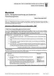 QUID – Mengenkennzeichnung von Zutaten bei Fleischerzeugnissen