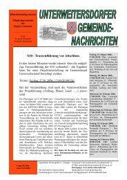 Ausgabe 2006/01 - Unterweitersdorf