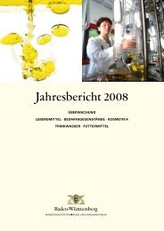 Jahresbericht 2008 - Lebensmittelüberwachung und Tiergesundheit ...