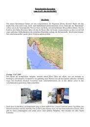 Reisebericht Kroatien vom 11.07. bis 04.08.2003 - Unterwegs Daheim