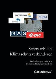 Schwarzbuch Klimaschutzverhinderer - Greenpeace