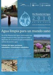 Agua limpia para un mundo sano - UN-Water