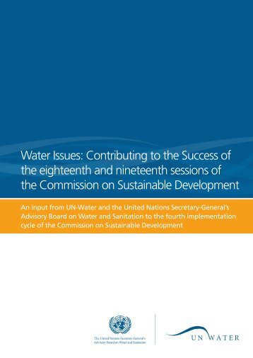 Water Issues: Contributing to the Success of the ... - UN-Water