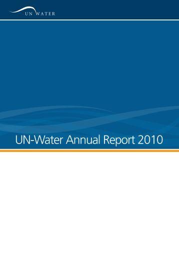 UN-Water Annual Report 2010
