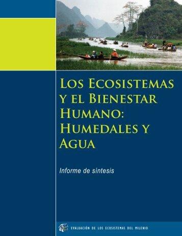 LOS EcOSiStEMAS y El BiENEStAR HUMANO ... - UN-Water