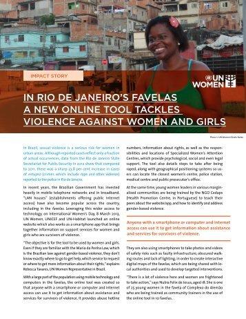 in rio de janeiro's favelas a new online tool tackles ... - UN Women