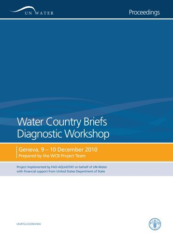 Water Country Briefs Diagnostic Workshop - UN-Water