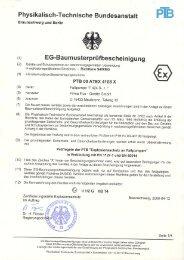 Eg-Baumusterprüfbescheinigung PTB 00 ATEX ... - Flux Geräte Gmbh