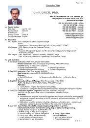 Ümit ÜNCÜ, PhD.