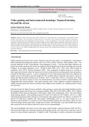 Video gaming and interconnected meanings: Nuanced learning ...