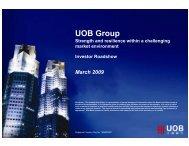 Investor Roadshow - United Overseas Bank