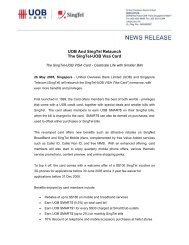 UOB And SingTel Relaunch The SingTel-UOB Visa Card - United ...
