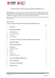 UOB Personal Internet Banking - United Overseas Bank