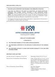 30 April 2010 EGM - Circular to Shareholders - United Overseas Bank