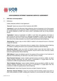 uob business internet banking service agreement - United Overseas ...